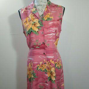 Tommy Bahama  100% Silk Button Down Dress